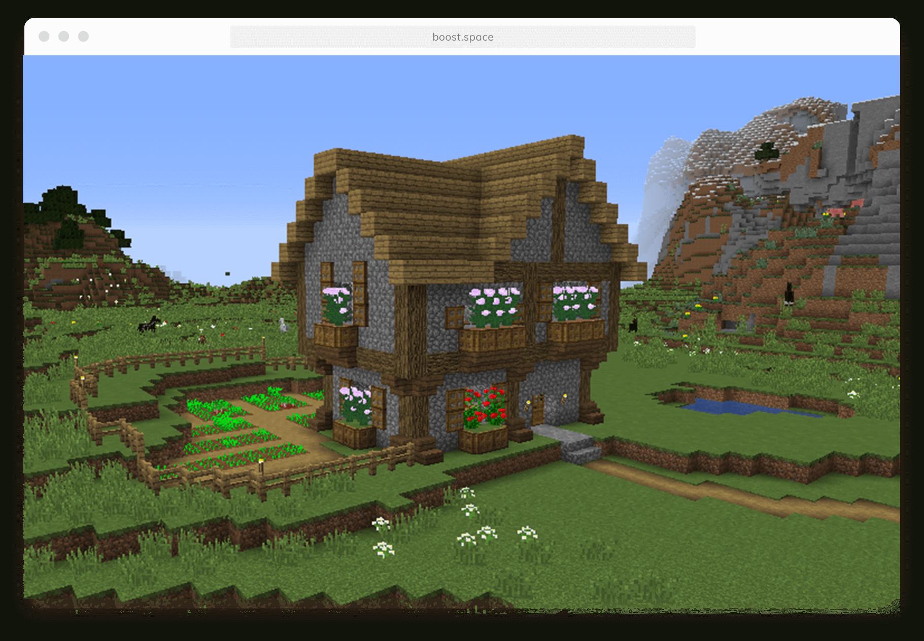 Screenshot of the module Minecraft